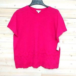 🎁3/$27🎁hot pink t-shirt